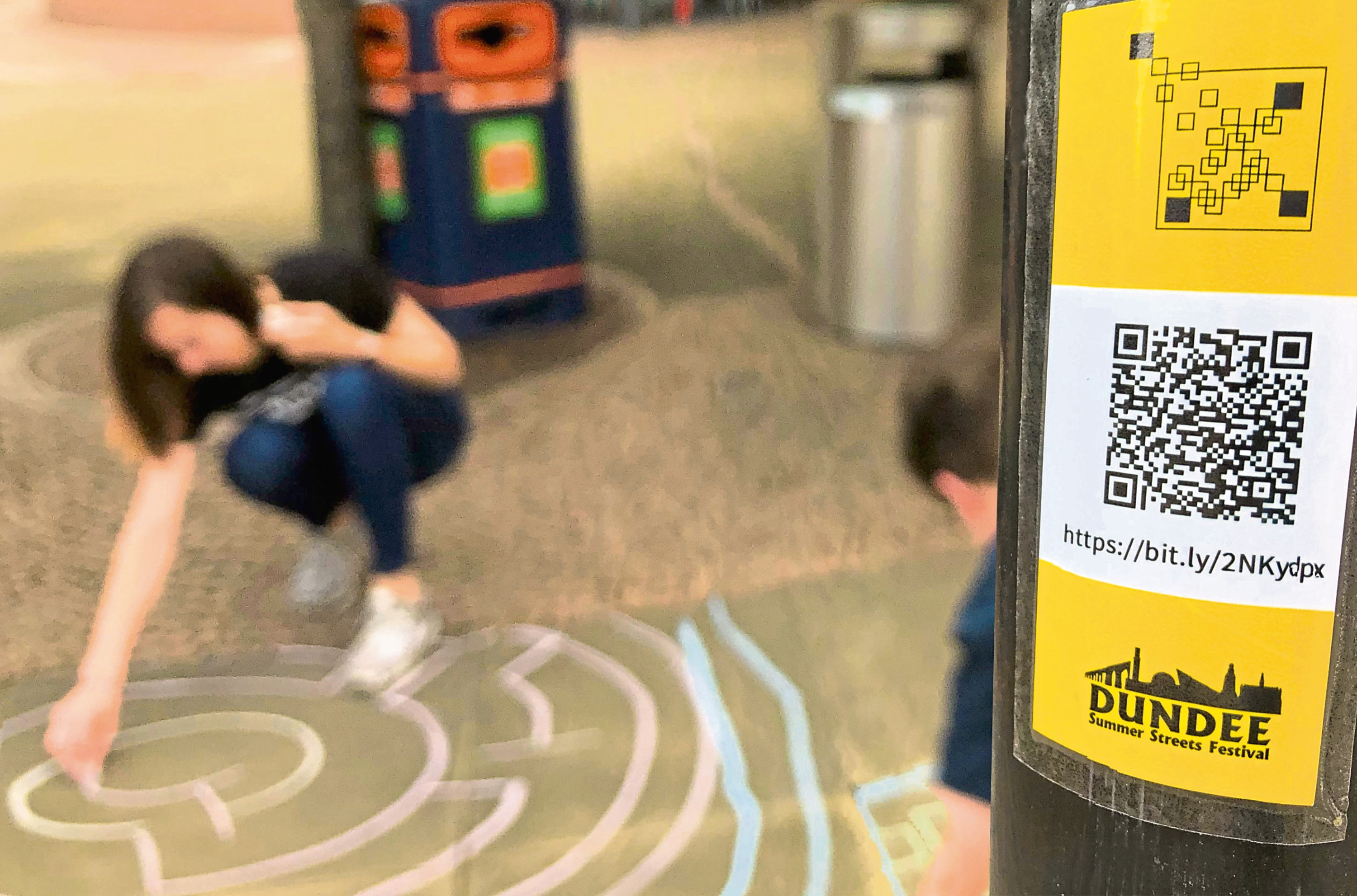 The collectors will see participants use smartphones to collect a series of audio clips from QR code stickers scattered around the city.