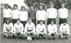 Downfield FC team photo from 1973. Bobby Barnes is fourth from the left in the front row.