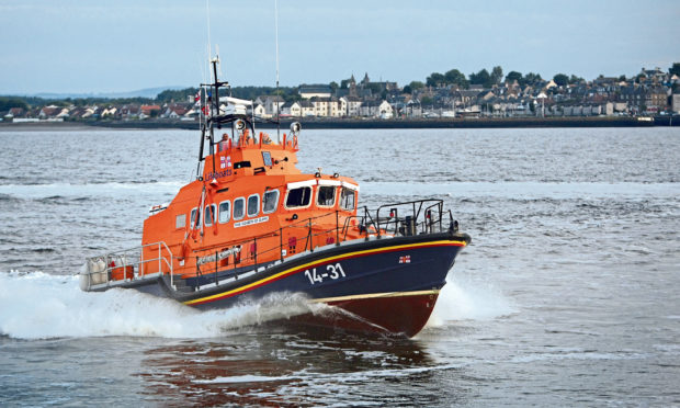 The Broughty Ferry Lifeboat. (stock image).