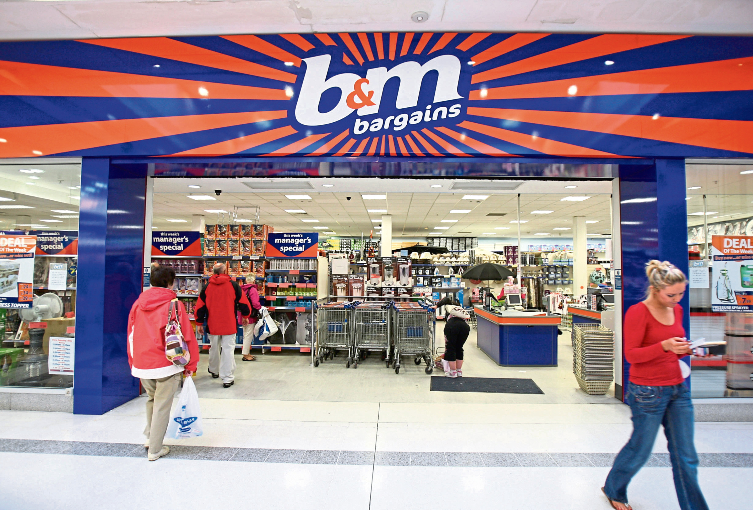 A B&M store. (Stock image).
