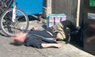 Bank Street, Dundee. Man passed out after drug taking episode in Bank Street, Dundee