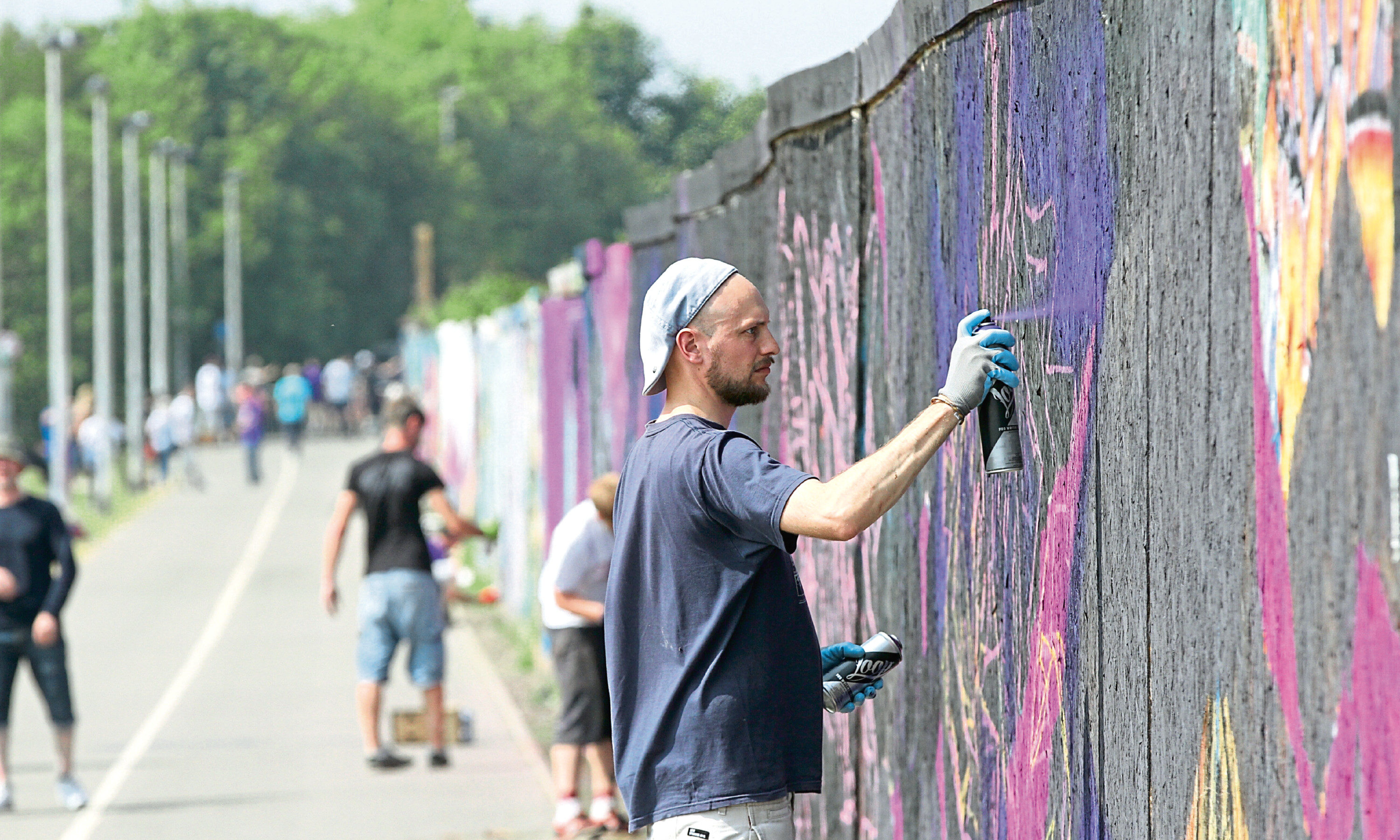 Graffiti artists at last year's event.