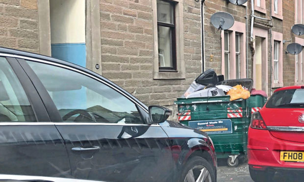The double-parking is causing issues for Rosefield residents.
