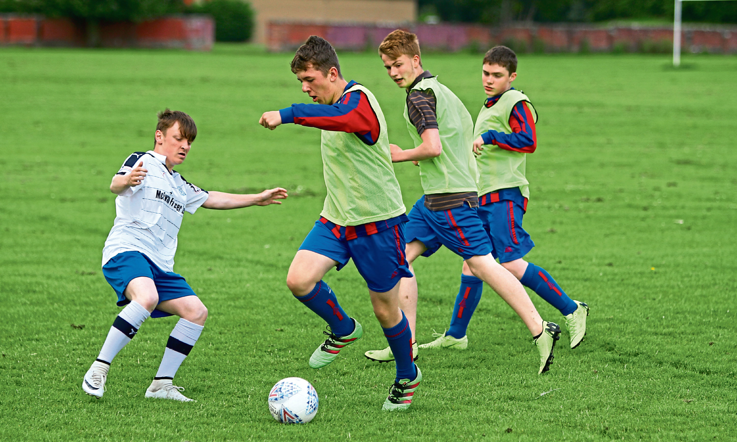 Youngsters in action from Dundee West.