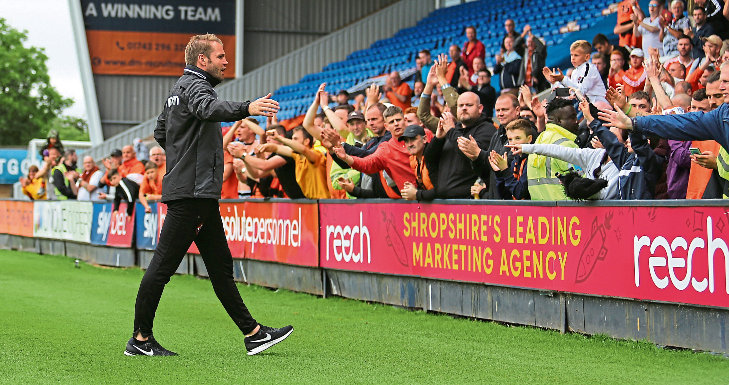 Dundee United manager Robbie Neilson and the club's dedicated fans will be hoping to make a return to the top flight next season.
