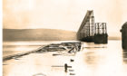 The Tay Rail Bridge after the disaster.