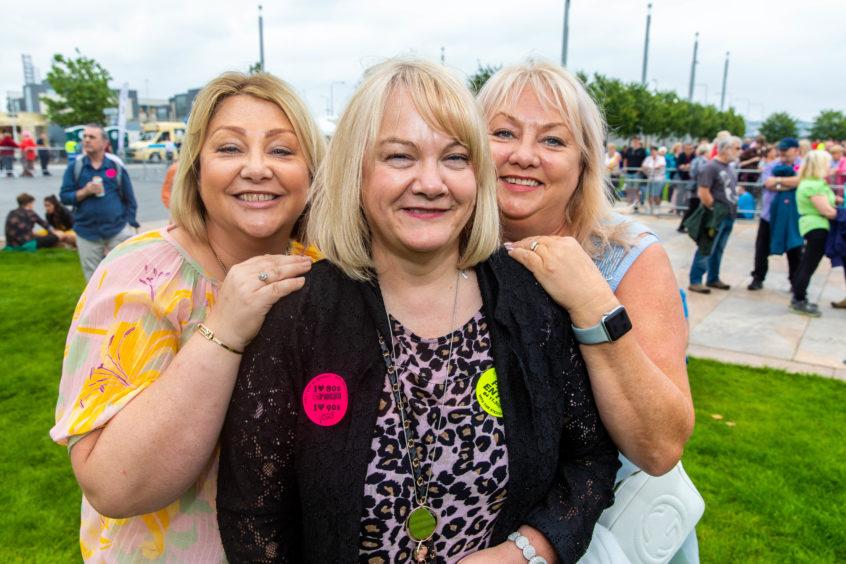 Ellen Ferrie, Carole Bennett and Lesley Sheach