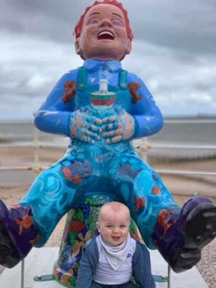 Harris Slane, aged 6 months, in Aberdeen.