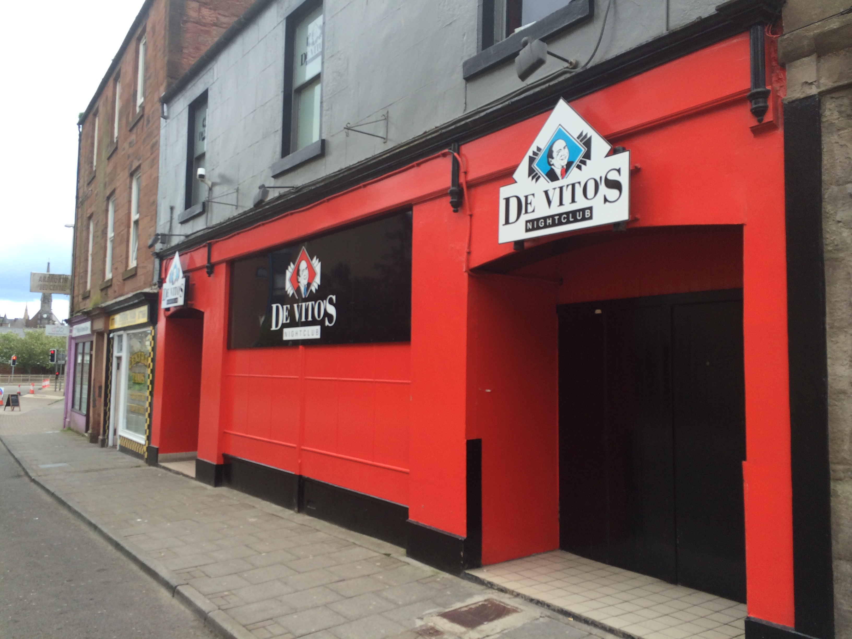 The incident took place at De Vito's nightclub.