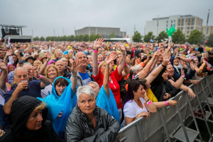 Rain didn't deter the crowds