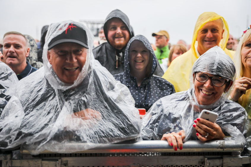 Rain didn't stop the crowd having a great time