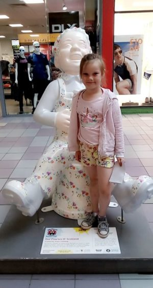 Summer Gray, aged 7, from Perth, loving the Oor Willie hunt.