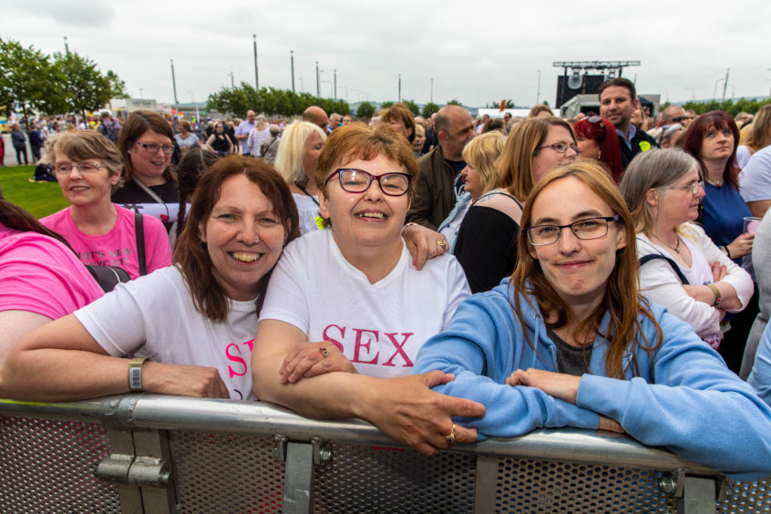 Susan Sommerville, Jacqueline Cameron and Fiona Kerrigan from Dundee