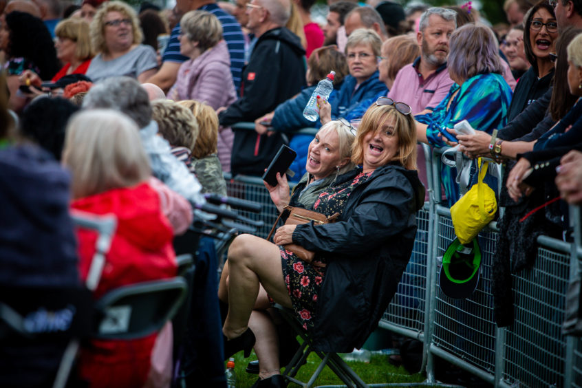 The weather didn't dampen the crowd's spirits