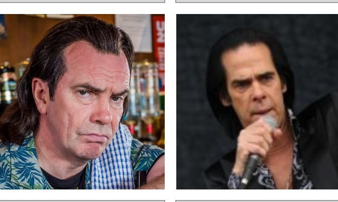Fans on Twitter, particularly from Scotland, noticed the resemblance between Nick Cave, right, and Boaby the barman from Still Game.