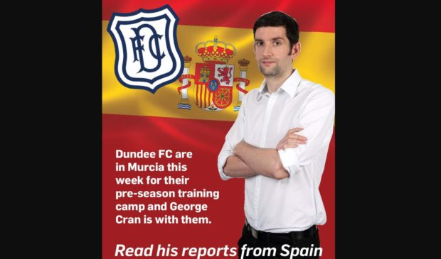 George Cran will be reporting for the Tele from Spain as Dundee continue their pre-season warm-up.