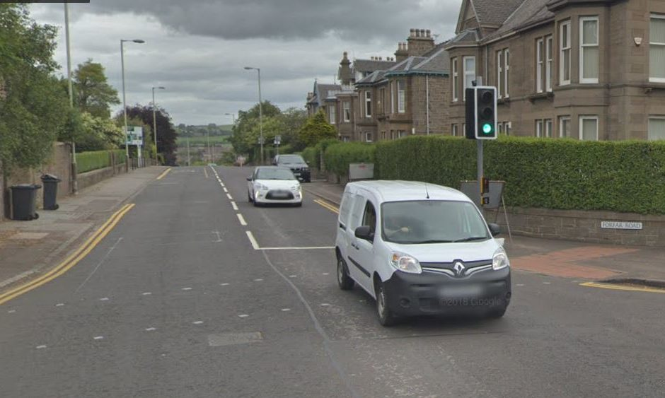 Forfar Road, Dundee. (Stock image).
