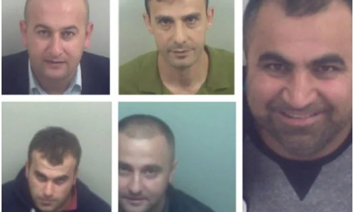 The gang who peddled counterfeit cigarettes, including Dani Adam from Dundee (centre bottom).