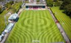 An aerial photo of Glebe Park, home of Brechin City.
