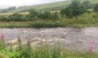Children were seen in the river yesterday.