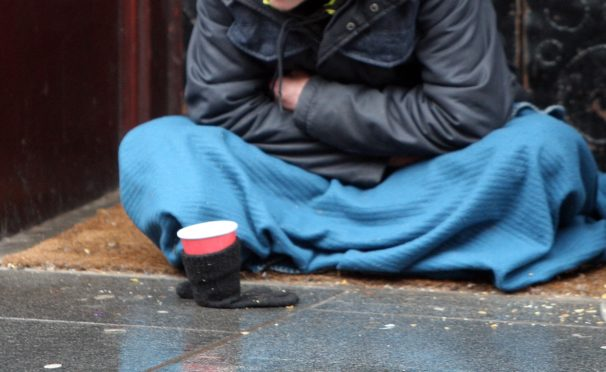 Dundee has a number of people begging on the streets and sleeping rough, according to local charities.
