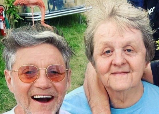 Lewis Capaldi, right, having aged himself using FaceApp.