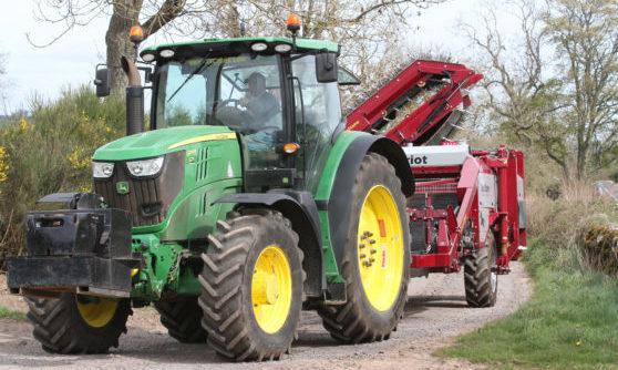It's alleged a John Deere tractor was taken (stock image).