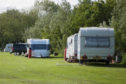 Travellers at the public park in Brechin, next to Wards Road.