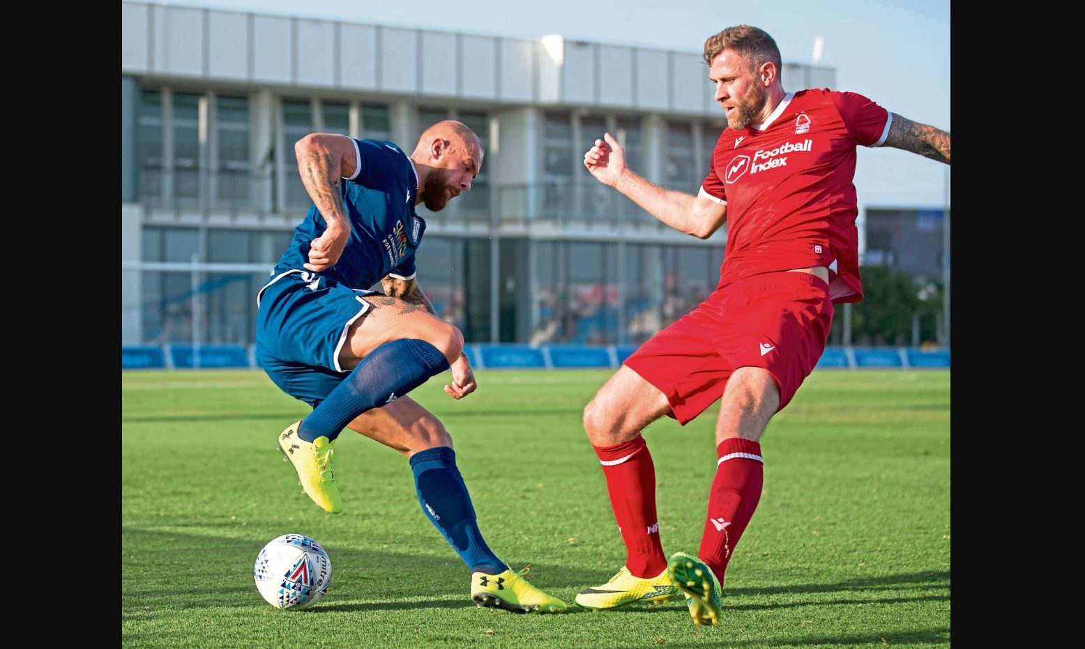 Jordon Forster evades a tackle in Spain as Dundee take on Nottingham Forest.