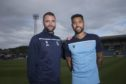 Kane Hemmings with Dundee FC manager James McPake.