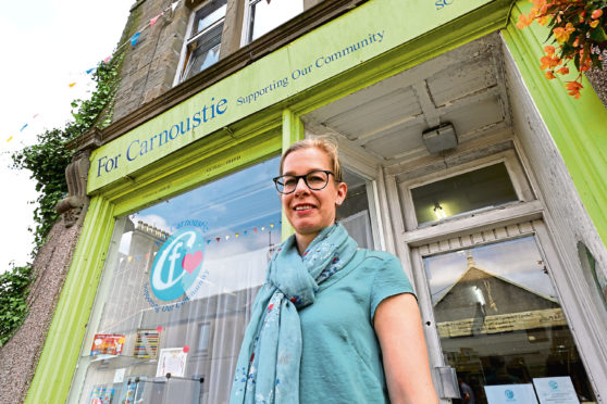 Anke Daehmlow outside the For Carnoustie charity shop.