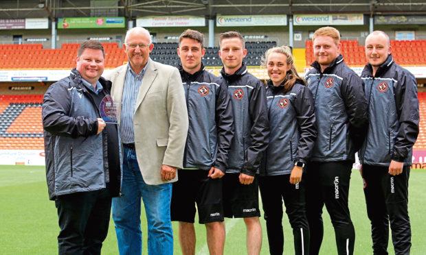 Jamie Kirk, far left, head of operations at Dundee Utd Community Trust.