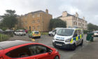 Police at the scene of the incident at the junction of Arklay Street and Arklay Terrace.