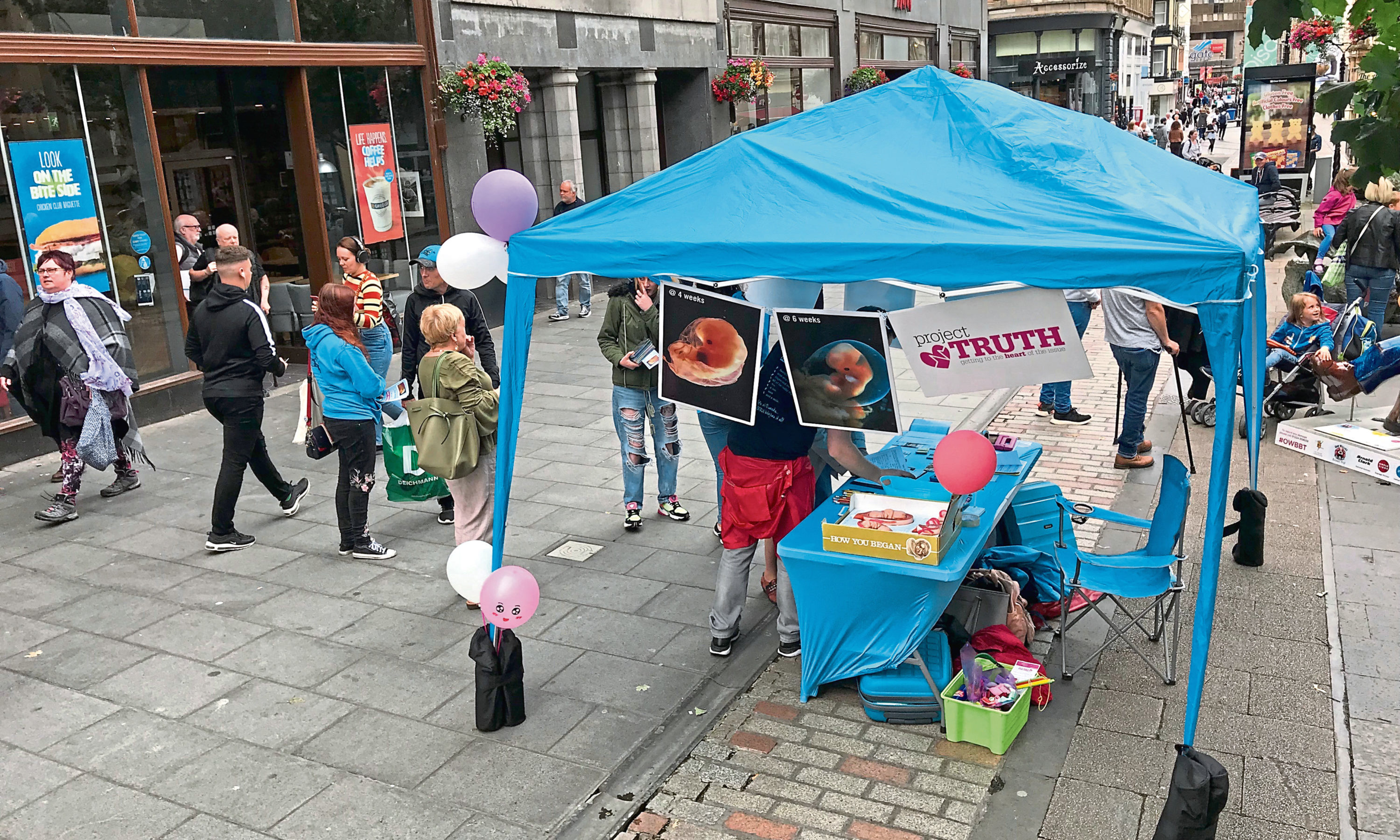Pro-life group Project Truth has held a divisive leafleting campaign on Dundee High Street.