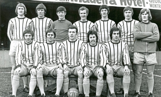 Norrie Porter, front row, far right, in 1972.