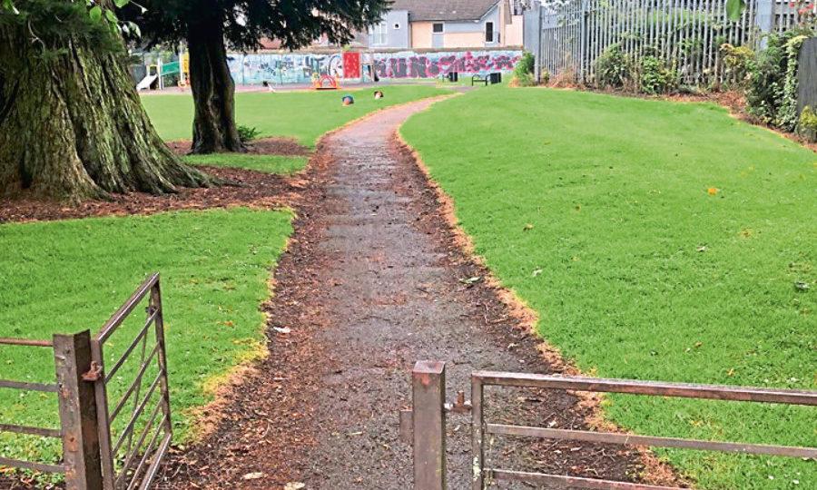 The entrance to Foggyley Park.