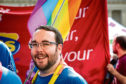 Gregor Murray - believed to be Scotland's only openly trans councillor - at the Dundee Pride parade.