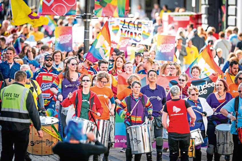 The 2018 Dundee Pride event.