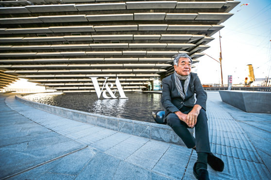 Kengo Kuma, the designer of the museum.