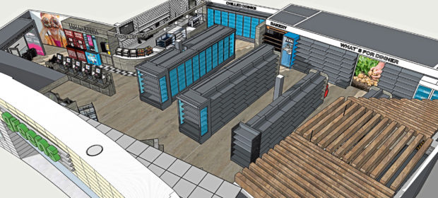 An artist's impression of what the new convenience store at Dundee railway station will look like.