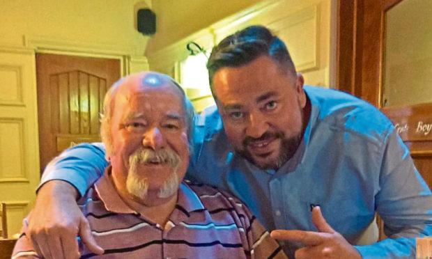 Gordon Stewart with eldest son Craig.