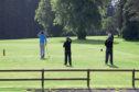 Golfers on Camperdown Golf Course.