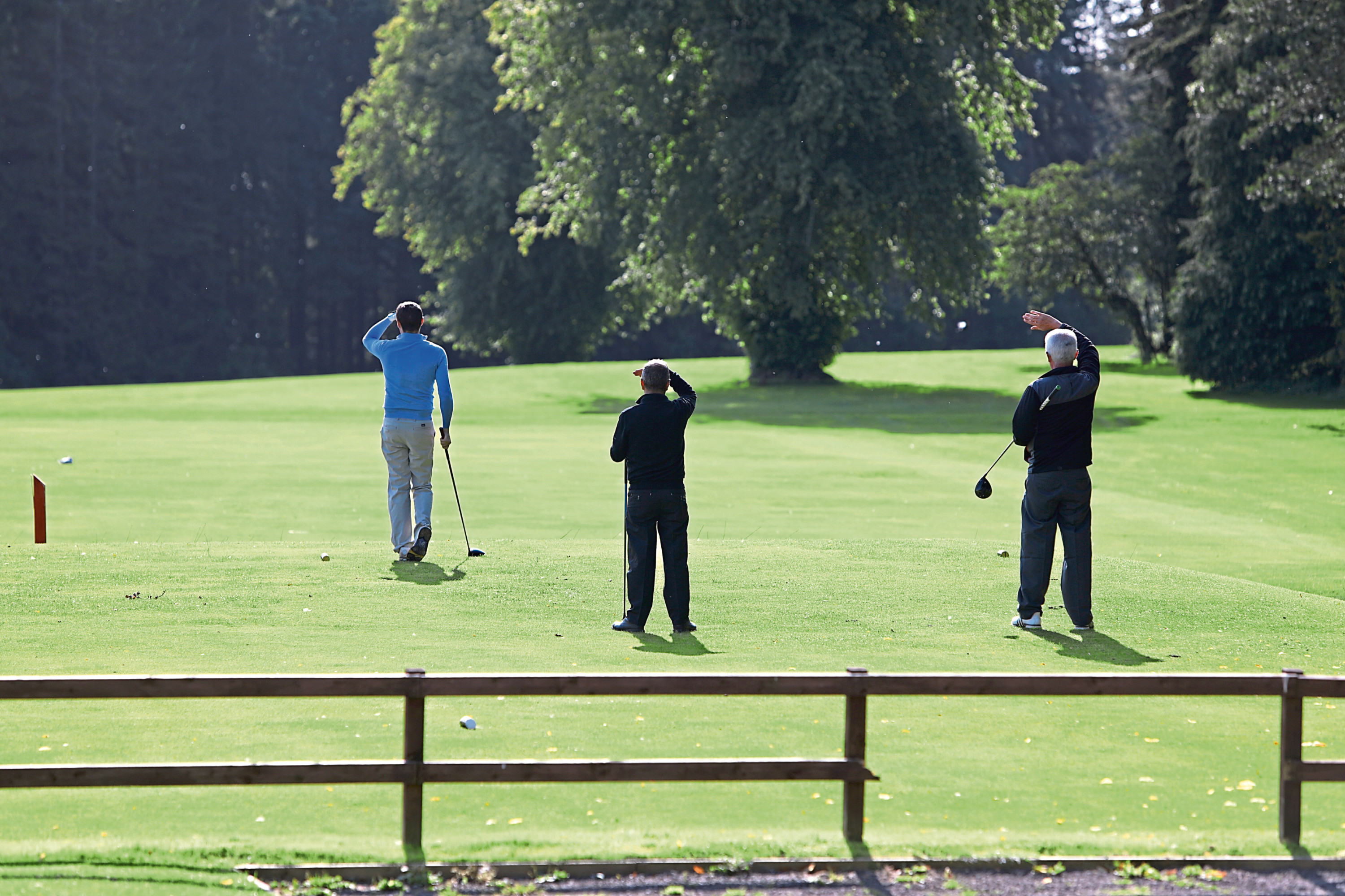 Golfers on Camperdown Golf Course.
