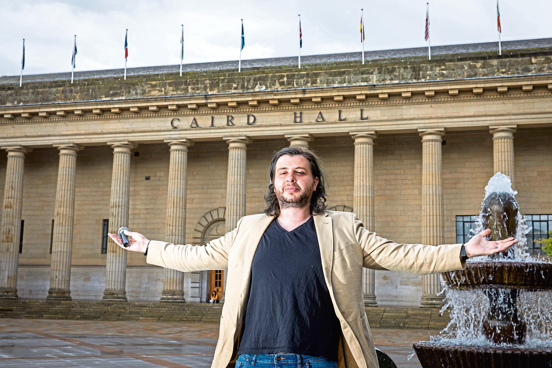 Comedian Luis Alcada in Dundee.