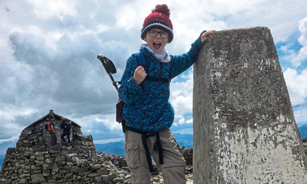 Eliott Thorne climbed Ben Nevis to raise money for charity.