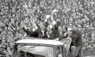 1967 European Cup winners Celtic had to make do with a lorry.