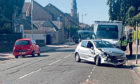 The main street in Broughty Ferry was  closed for more than an hour at the weekend following a three-vehicle crash.
