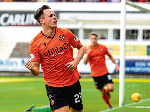 Dundee United's Lawrence Shankland.