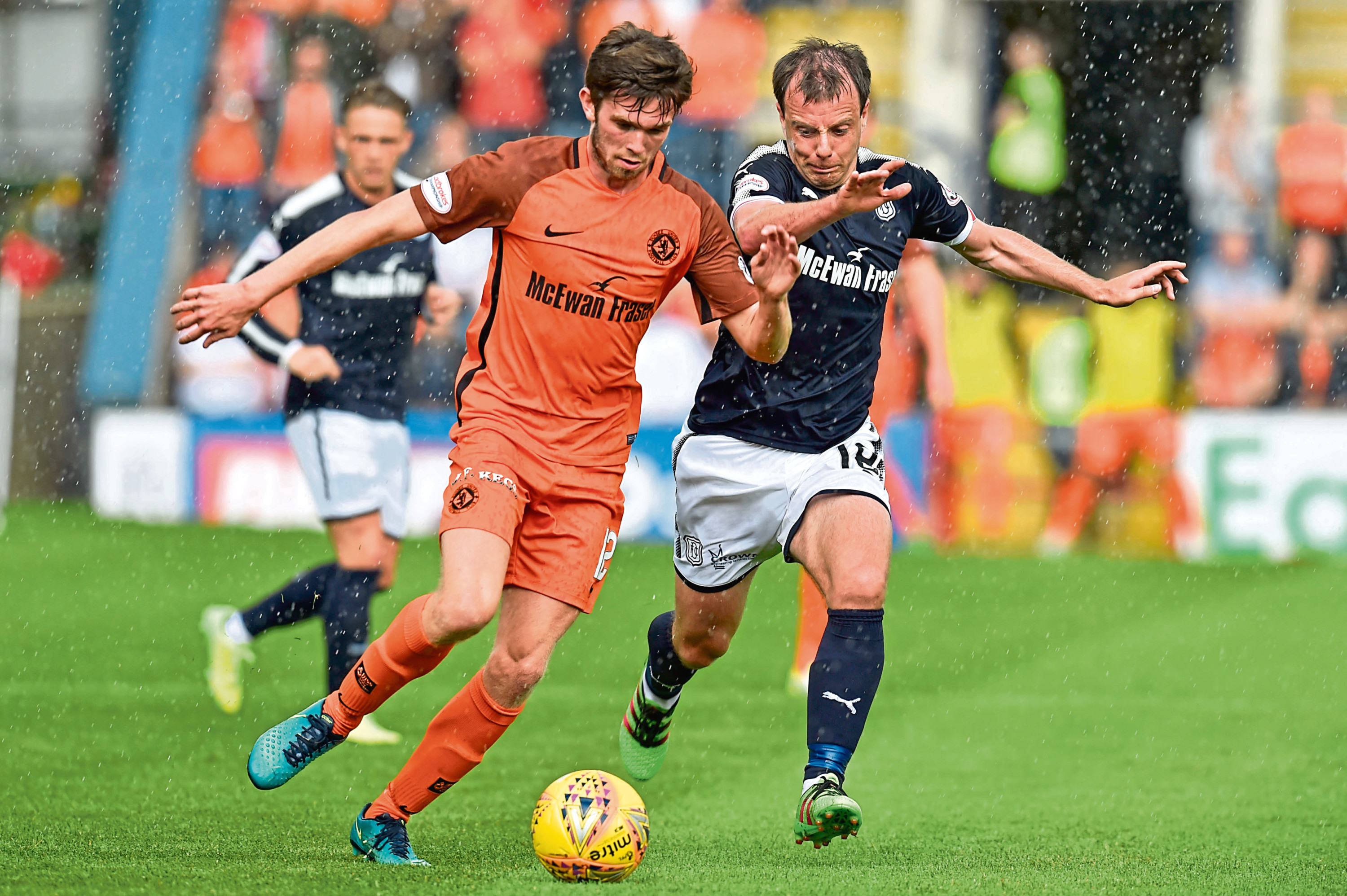Dundee Utd's Sam Stanton (left) with Paul McGowan.