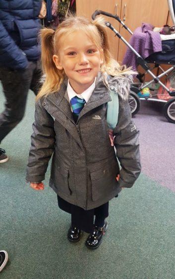 Aaliyah Martin, 5, Carlogie Primary School.